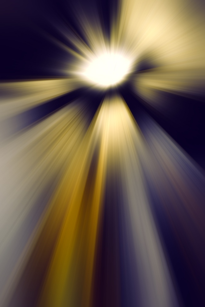 Dramatic imaginary abstract of an intensely glowing otherworldly object emitting radially blurred beams of light or other widespread radiation as it hurtles through interstellar space.jpeg