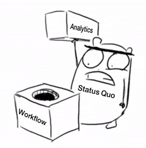Forcing analytics into pharmacovigilance workflow is trying to fit a square peg in a round hole